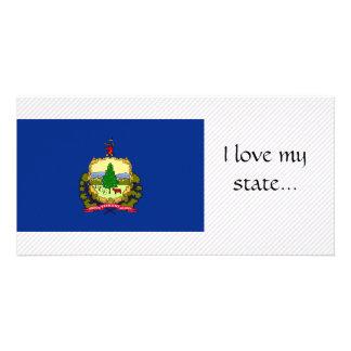 Vermont Flag Custom Photo Card