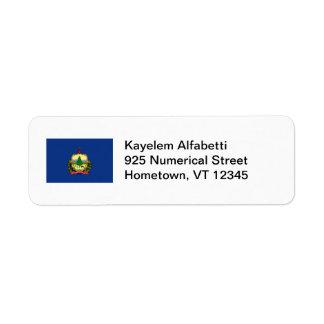 Vermont Flag Return Address Label