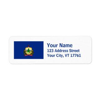 Vermont Flag Return Address Labels