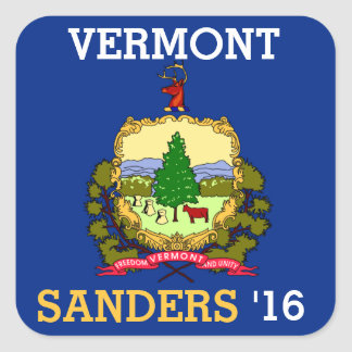 Vermont for Bernie Sander for President 2016 Square Sticker