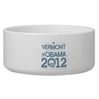 VERMONT FOR OBAMA 2012.png Pet Food Bowl