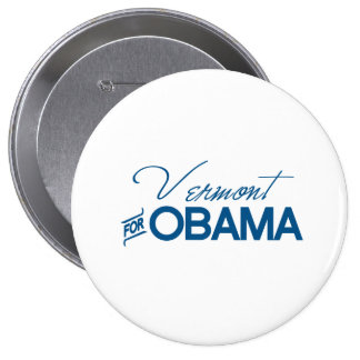 Vermont for Obama - png Pinback Button