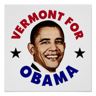 Vermont For Obama Poster