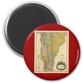 Vermont, From actual Survey - Vintage 1814 Map 2 Inch Round Magnet