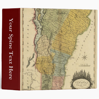 Vermont, From actual Survey - Vintage 1814 Map 3 Ring Binder