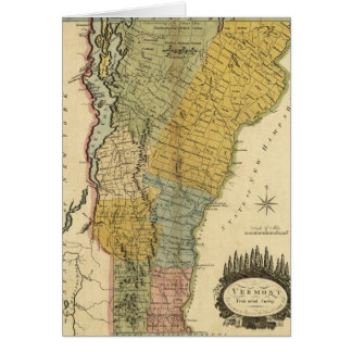 Vermont, From actual Survey - Vintage 1814 Map Card