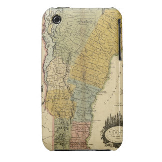 Vermont, From actual Survey - Vintage 1814 Map iPhone 3 Cover