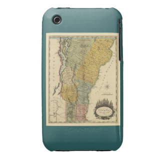 Vermont, From actual Survey - Vintage 1814 Map Case-Mate iPhone 3 Cases
