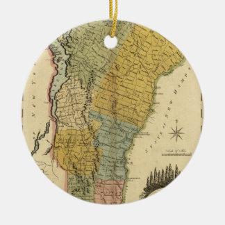 Vermont, From actual Survey - Vintage 1814 Map Ceramic Ornament