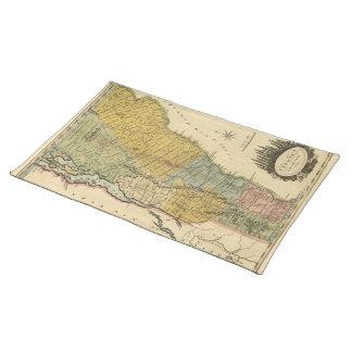 Vermont, From actual Survey - Vintage 1814 Map Cloth Place Mat