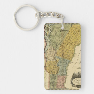 Vermont, From actual Survey - Vintage 1814 Map Keychain