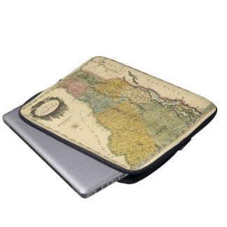 Vermont, From actual Survey - Vintage 1814 Map Laptop Sleeve