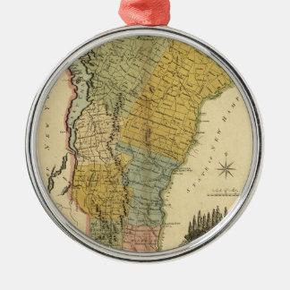 Vermont, From actual Survey - Vintage 1814 Map Metal Ornament
