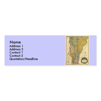 Vermont, From actual Survey - Vintage 1814 Map Mini Business Card