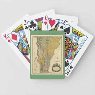 Vermont, From actual Survey - Vintage 1814 Map Playing Cards