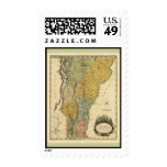 Vermont, From actual Survey - Vintage 1814 Map Postage Stamp