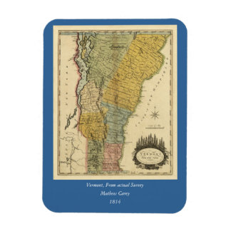 Vermont, From actual Survey - Vintage 1814 Map Rectangular Photo Magnet