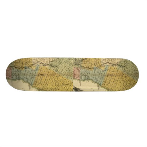 Vermont, From actual Survey - Vintage 1814 Map Skate Decks