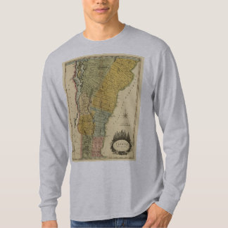 Vermont, from actual Survey - Vintage 1814 Map T-Shirt