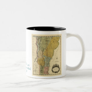 Vermont, from actual Survey - Vintage 1814 Map Two-Tone Coffee Mug