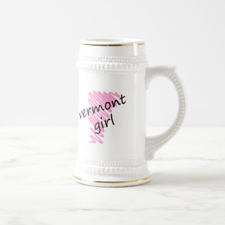 Vermont Girl with Scribbled Vermont Map Mugs
