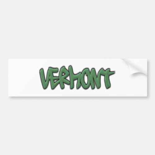 Vermont Graffiti Bumper Sticker