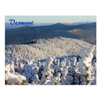 Vermont Green Mountains Mount Abraham Winter Postcard