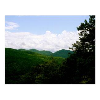 Vermont green mountains postcard