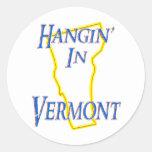 Vermont - Hangin Etiquetas Redondas