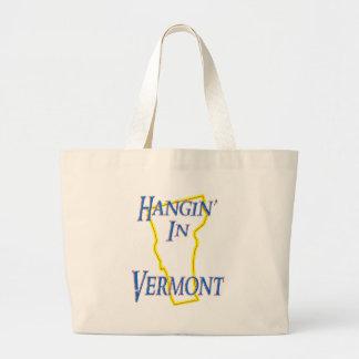 Vermont - Hangin' Large Tote Bag