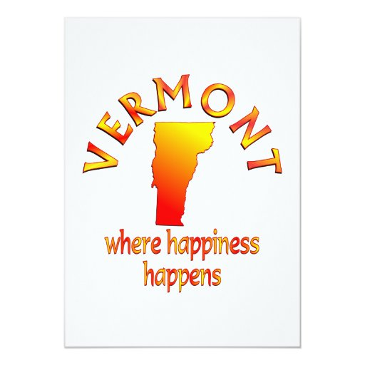 VERMONT Happiness 5x7 Paper Invitation Card