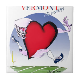 Vermont head heart, tony fernandes ceramic tile
