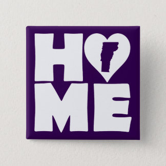 Vermont Home Heart State Button Badge Pin