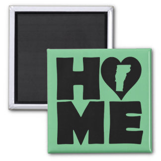 Vermont Home Heart State Fridge Magnet