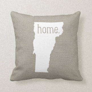 Vermont Home State Throw Pillow
