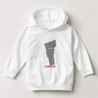 VERMONT Home Town Personalized Map Hoodie