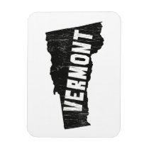 Vermont Home Vintage Map Silhouette Magnet