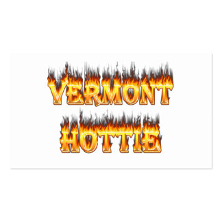 Vermont hottie fire and flames business card
