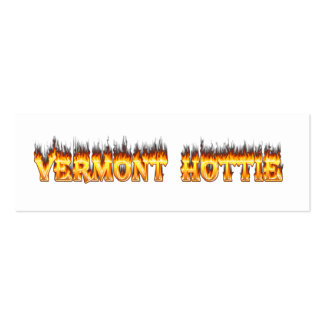 Vermont hottie fire and flames mini business card
