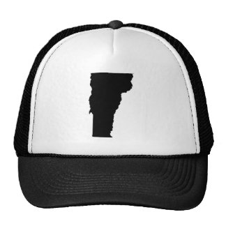 Vermont in Black and White Mesh Hats