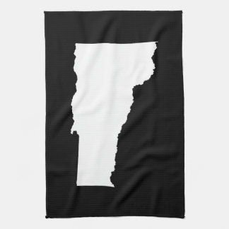 Vermont in White and Black Kitchen Towel