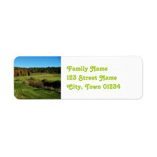 Vermont Landscape Label