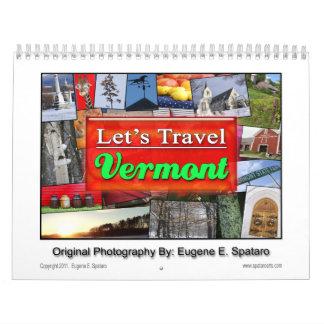 "Vermont - ""Let's Travel"" Series. Calendar"
