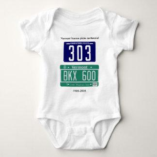 Vermont license plate centennial baby bodysuit