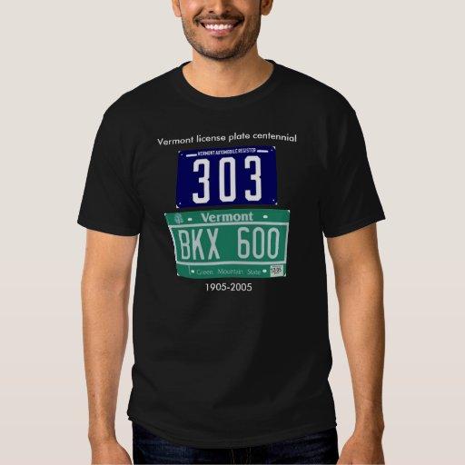 Vermont license plate centennial T-Shirt