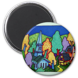Vermont  Life 33 by Piliero 2 Inch Round Magnet
