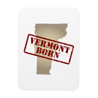 Vermont llevado - sello en mapa iman