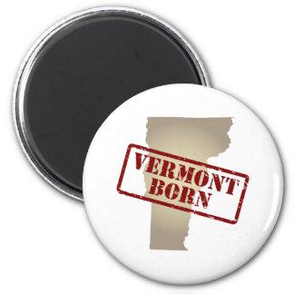 Vermont llevado - sello en mapa imán redondo 5 cm