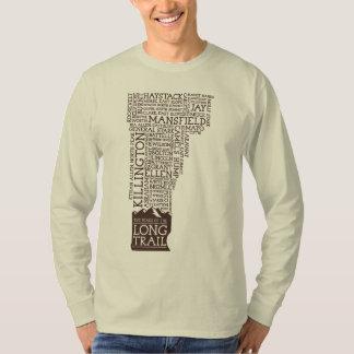 Vermont Long Trail Long Sleeve T-Shirt(Brown Logo) Tee Shirt