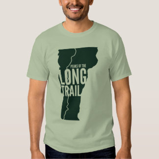 Vermont Long Trail Peaks List T-Shirt